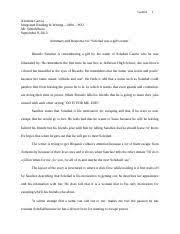journal entry burro genius summary garcia xiomara garcia 2 pages journal entry 3 soledad was a girl s summary