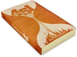 fahrenheit 451 book cover redesign ray bradbury tribute orange