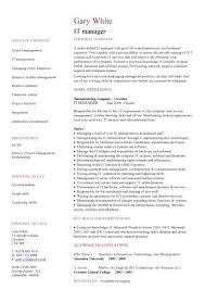 It Manager Resume Template Awesome IT Manager CV Example Raj Tanwer Pinterest Cv Template