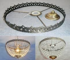 basket chandelier metal frame skeleton make your own chandelier light shade kit pendant lamp wedding cake stand decoration vintage look