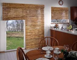 magnificent roman shades sliding glass door and shades horizons natural woven two on one headrail kitchen