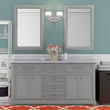 Bathroom Vanity Double Gorgeous Bellaterra Home 48AWHITE Bathroom Vanity Antique White Finish