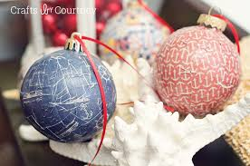Mod Podge Christmas Ornament Crafts: Beach Themed Christmas Decor - Crafts  by Courtney