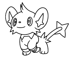 Small Picture Shinx Pokemon Character Free Coloring Page Animals Kids
