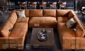 Leather Couch Restoration Restoration Hardware Sectional In Italian Destroyed Leather