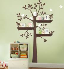 shelving tree wall decal