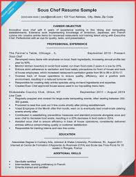 Chef Resume Objective Executive Chef Resume Sample Chef Sample ...