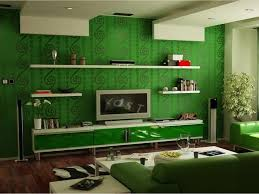 Paint Colors For High Ceiling Living Room Dark Green Wallpaper For Modern Home Ideas With White Ceiling