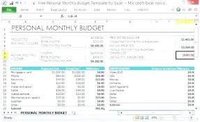 How To Make A Monthly Budget On Excel A Personal Budget Barca Fontanacountryinn Com
