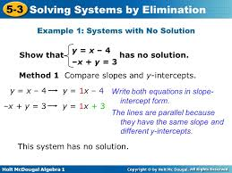 example 1 systems with no solution
