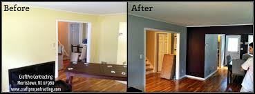 painting accent wallsGray on Deep Red Accent Walls Morristown NJ House Painting