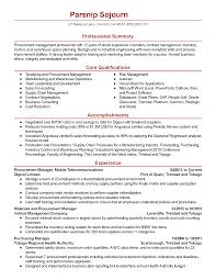 Procurement Manager Resume Resume