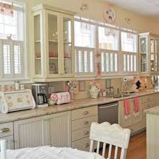 charming small pink kitchen come with pink color kitchen wares and