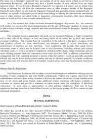 Bojangles Calorie Chart Franchise Disclosure Document The Franchisee Will Operate A