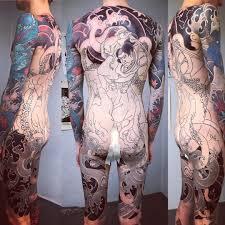 японская татуировка на спине Slava Starkov