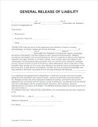 General Resume Form Safety Waiver Template Accident And Release Of Liability