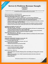8 Server Resume Samples By Nina Designs