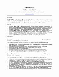 Sap Basis Consultant Sample Resume 24 Lovely Photograph Of Sap Basis Sample Resume Resume Sample 7