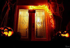halloween lighting ideas. Eerie Front Porch Decorated For Halloween Lighting Ideas E