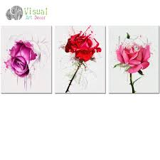 no frame diy flower canvas wall art decor watercolor rose painting prints on canvas floral wall on watercolor floral wall art with no frame diy flower canvas wall art decor watercolor rose painting