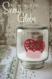 valentines snow globe