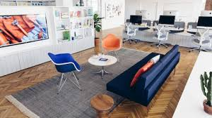 design office furniture. Brilliant Design An Intimate Lounge Setting Includes A Tuxedo Sofa Two Eames Molded Plastic  Chairs And Intended Design Office Furniture P
