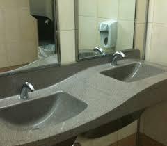 public bathroom sink. Sloping Sink In A Public Restroom Bathroom S