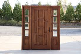 Decorating wood front entry doors with sidelights images : Exterior Doors with Sidelights Wholesale Clearance Wood Doors