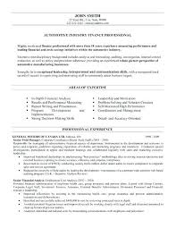 Resume Templates For Finance Professionals Finance Manager Resume