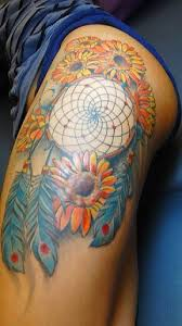 Dream Catcher Tattoo On Thigh 100 Best Dreamcatcher Tattoos 66