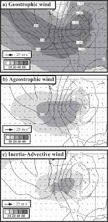 Composite 250 Hpa Ageostrophic Wind Analysis At 6 H A
