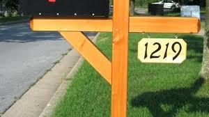Wood Mailbox Post Designs Wood Mailbox Post Designs Unique Design