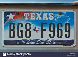 Car license plate in Texas,The Lone Star State, USA Stock Photo ...