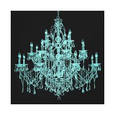 teal blue chandelier canvas wall art