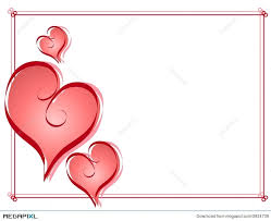 valentine heart frame.  Heart Calligraphy Valentine Hearts Frame Border Throughout Heart