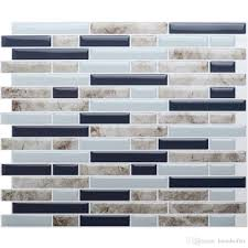 self adhesive 3d wall tile l and stick mosaic tile diy kitchen bathroom home decor 10 5 x10 pack of 4 pieces