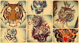 эскизы тату тигр интересные рисунки для татуировки тигр