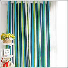 navy and white rugby stripe curtains