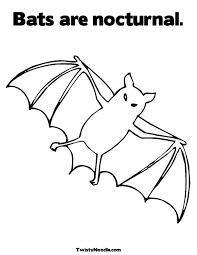 Bat Outline Az Coloring Pages Clip Art Library