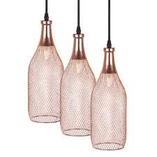 Rose Gold Lights Us 14 5 Electroplating Modern Metal Cage Pendant Lamp Vintage Rose Gold Birdcage Creative Hanging Lamp For Restaurant Living Room In Pendant Lights