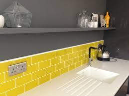 Kitchen Splashback Tiles Acid Yellow Boom Glass Metro Tiles Too Jazzy