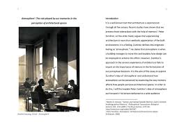 essay on architectural atmosphere on behance