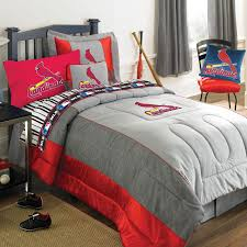 st louis cardinals mlb authentic team jersey bedding twin size comforter sheet set
