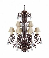 capital lighting 3682cb 413 sheffield 12 light two tier chandelier in chesterfield brown with crystal