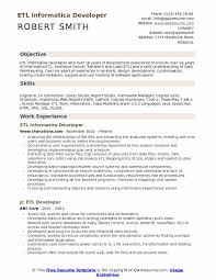 Informatica Developer Resume