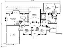 Stylish atrium ranch house plan with class 57134ha