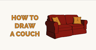 how to draw a couch really easy