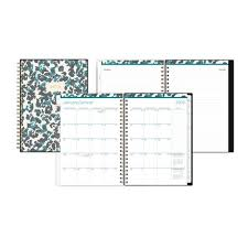 Monthly And Weekly Planners Blue Sky Medium Weekly Monthly Planner Notes For 2019