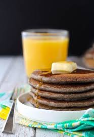 these buckwheat pancakes are made with buckwheat flour resulting in a beautiful nutty flavor