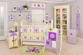 Astounding Little Girl Bedroom Decorating Ideas For Your Lovely Daughters :  Wonderful Purple Girl Nursery And